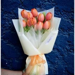 El color naranja fue el preferido del dia~🧡 #tulipanesnaranja #tulipaner